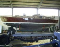 Holzboot Mahagoni-Außenhaut Sanierung